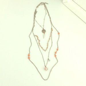 New York & Company Triple Strand Necklace